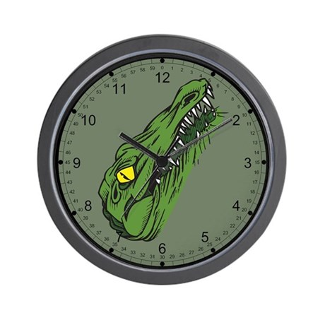 Crocodile Head Wall Clock