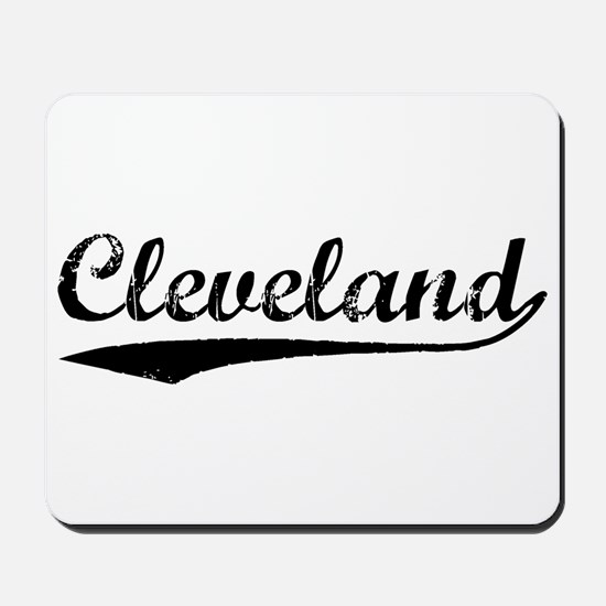 Vintage Cleveland (Black) Mousepad