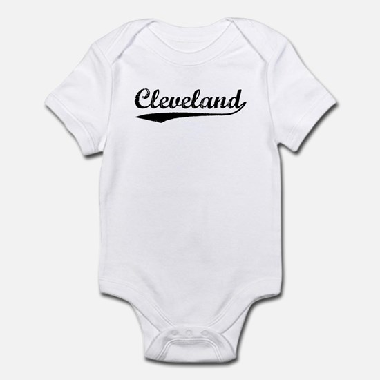 Vintage Cleveland (Black) Infant Bodysuit