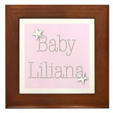 Cute Liliana Framed Tile