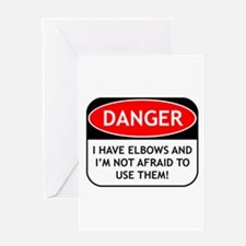 Use Elbows Greeting Card