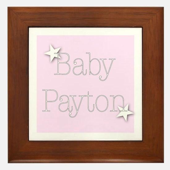 Cute Payton Framed Tile