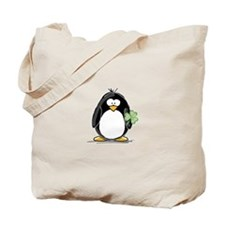 Shamrock Penguin Tote Bag