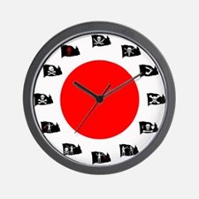 Pirate Flags- Red Spot Wall Clock