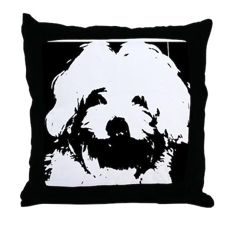 Ozzy the Maltese Throw Pillow
