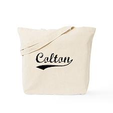 Vintage Colton (Black) Tote Bag