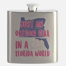 Unique Oregon love Flask