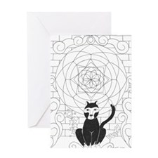 Death - Kitty of the Apocalyp Greeting Card