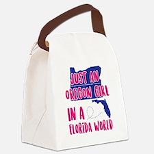 Funny Oregon love Canvas Lunch Bag