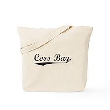 Vintage Coos Bay (Black) Tote Bag