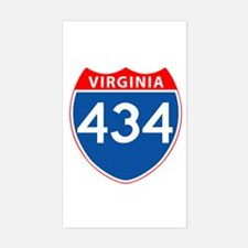 Area Code 434 Rectangle Decal