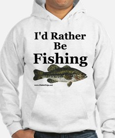 """I'd Rather Be Fishing"" Bass Hoodie"