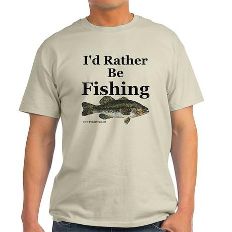 """I'd Rather Be Fishing"" Bass T-Shirt"