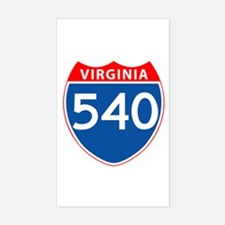 Area Code 540 Rectangle Decal