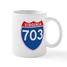 Area Code 703 Mug