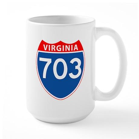 Area Code 703 Large Mug