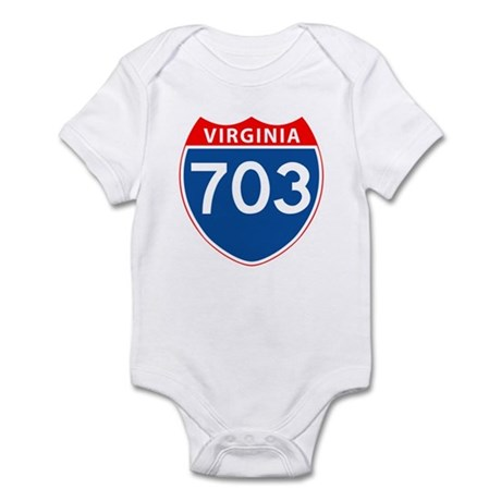 Area Code 703 Infant Bodysuit