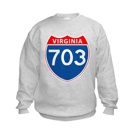 Area Code 703 Kids Sweatshirt