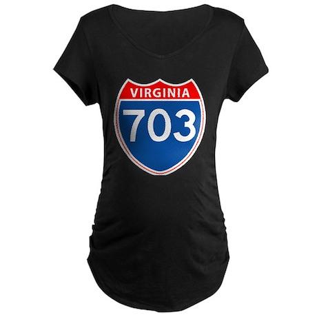 Area Code 703 Maternity Dark T-Shirt