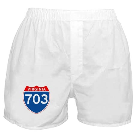 Area Code 703 Boxer Shorts