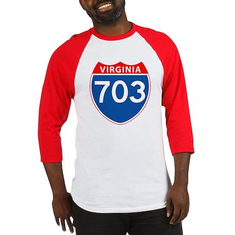 Area Code 703 Baseball Jersey
