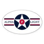 81st SPS Alpha Flight Oval Sticker