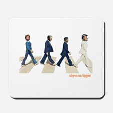 Hillary,Bill,JFK,FDR on Abbey Mousepad