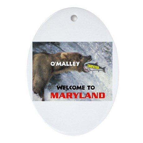 O'MALLEY'S TAXES Oval Ornament
