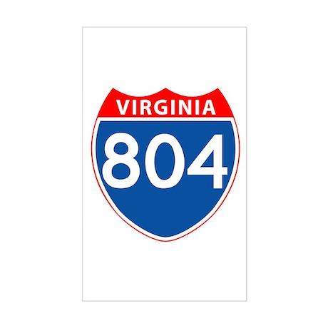 Area Code 804 Rectangle Sticker