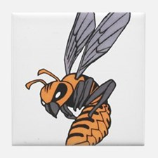 Cute Angry bees Tile Coaster