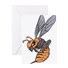 Cute Angry bees Greeting Card