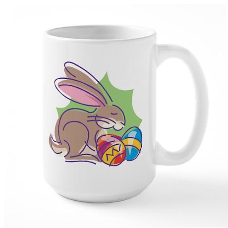 EASTER BUNNY & EGGS Large Mug