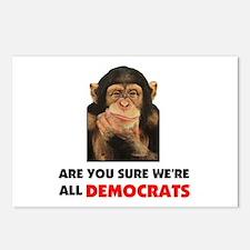 MONKEY DEMOCRAT Postcards (Package of 8)