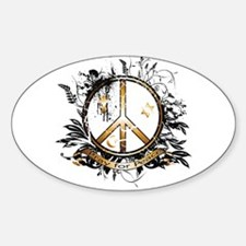 Pray for Peace Oval Decal