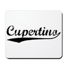 Vintage Cupertino (Black) Mousepad
