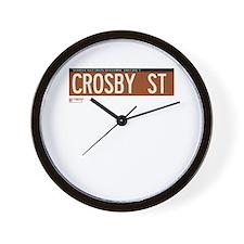 Crosby Street in NY Wall Clock