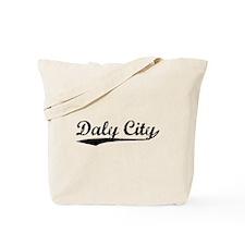 Vintage Daly City (Black) Tote Bag