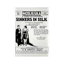 Adolphe Menjou Sinners in Silk Rectangle Magnet