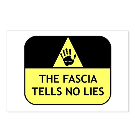 The fascia tells no lies Postcards (Package of 8)