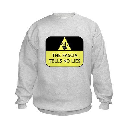 The fascia tells no lies Kids Sweatshirt