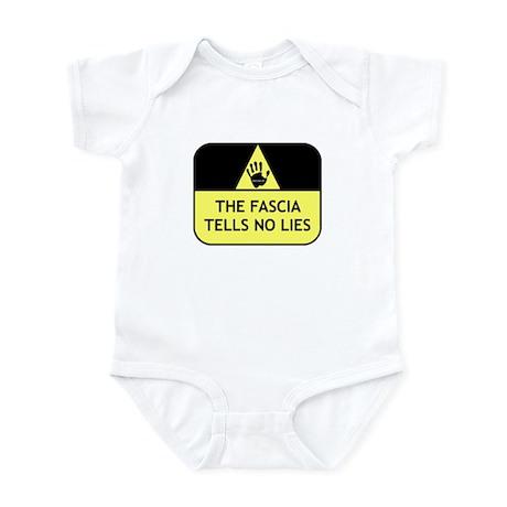 The fascia tells no lies Infant Bodysuit