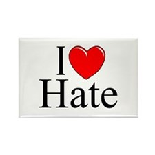 """I Love Hate"" Rectangle Magnet"