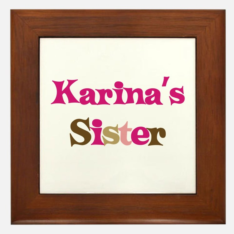 Karina's Sister Framed Tile