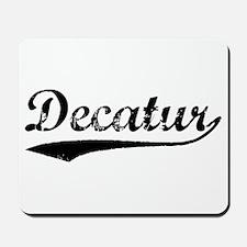 Vintage Decatur (Black) Mousepad