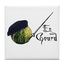 En Gourd Tile Coaster