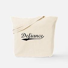 Vintage Defiance (Black) Tote Bag
