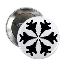 """F-15 Aviation Snowflake 2.25"""" Button (10 pack)"""