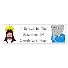 Separation Bumper Bumper Sticker