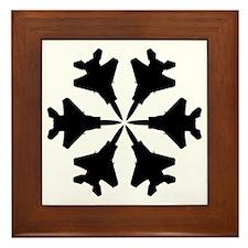 F-15 Aviation Snowflake Framed Tile