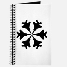 F-15 Aviation Snowflake Journal